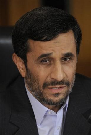 Image: Iranian President Ahmadinejad