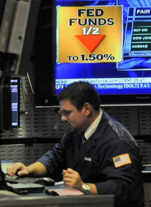 Image: Stock trader