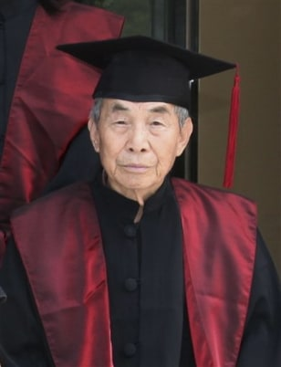 Image: 96-year-old graduate student