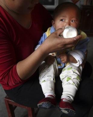 Image: Baby drinking milk