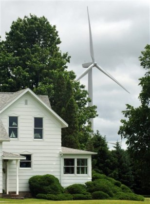 Image: Turbine behind home