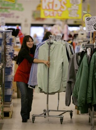 Image: Sales clerk Annie Young