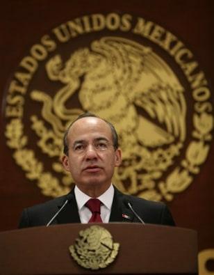Image: Mexico President Felipe Calderon