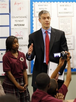 Image: Education Secretary Arne Duncan