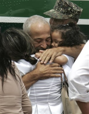 Image: Eugenio Vagni reunited with family