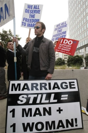 Image: Protest on same-sex marriage
