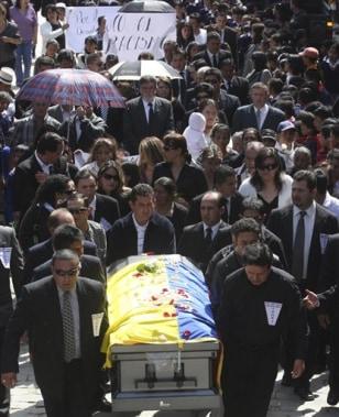 Image: Ecuadorean man's funeral