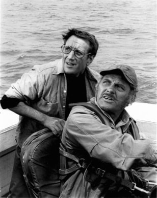"Image: Roy Scheider, Robert Shaw in ""Jaws"""