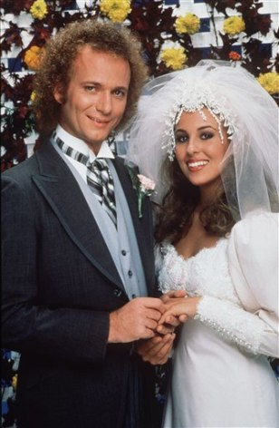 "Image: Luke and Laura's wedding on ""General Hospital"""