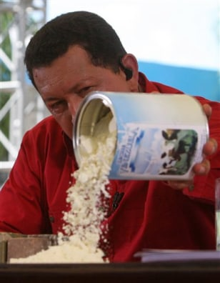 IMAGE: CHAVEZ OURS POWDERED MILK ON TABLE