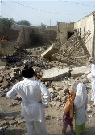Image: Taliban supporters' house destroyed