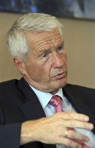 Image: Thorbjoern Jagland, General Secretary of the Council of Europe and Norwegian chairman of the Nobel Peace Prize award committee