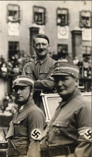 Image: Hanns Elard Luding, Hermann Goering and Adolf Hitler in 1936