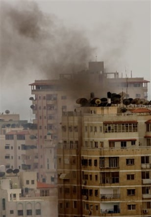 IMAGE: Gaza building hit by militants
