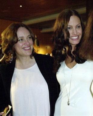 Image: Marcheline Bertrand, Angelina Jolie