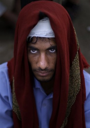 Image: Anti-government protester in Yemen