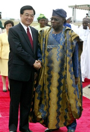 Image: Chinese President Hu and Nigerian President Obasanjo