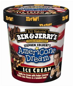 Image: Colbert ice cream