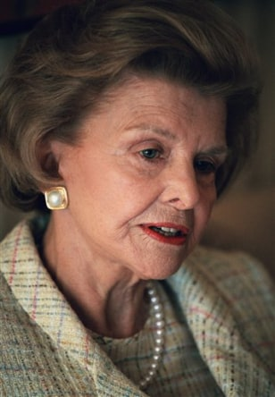 Image: Former first lady Betty Ford