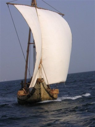 Bronze Age-style boat