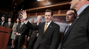 Image: Jim DeMint, Jeff Session, Rand Paul, Kelly Ayotte, David Vitter, Ron Johnson, John Cornyn, Mike Lee
