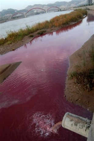 IMAGE: RIVER TAINTED RED