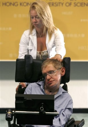 Image: Hawking and nurse
