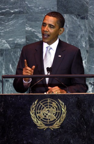 President Obama Addreses The UN Secretary General's Climate Change Summit