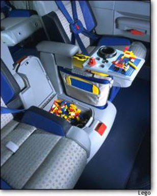 lego which makes the popular childrens toy has created an entertainment area for the back seat
