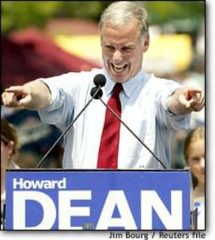 Image: Howard Dean Points To Supporters While Formally Announcing His Campaign For President Of The United States