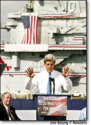 Image: John Kerry Announces His Presidential Candidacy In Front Of Battleship In South Carolina
