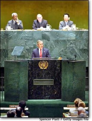 Image: Bush Speaks To United Nations on Iraq