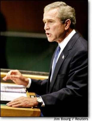 Image: President Bush Addresses United Nations General Assembly