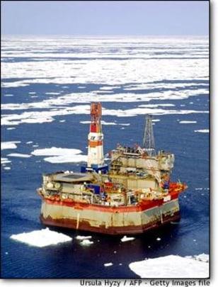 Image: Oil platform off Sakhalin island