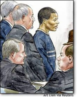 Image: Lee Malvo Is Shown In An Artists Impression During Sniper Trial In Chesapeake