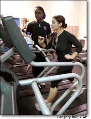 Image: Exercising woman