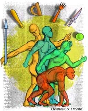 Homo Erectus illustration