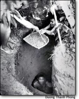 PHOTO: Villagers dig tunnels by hand