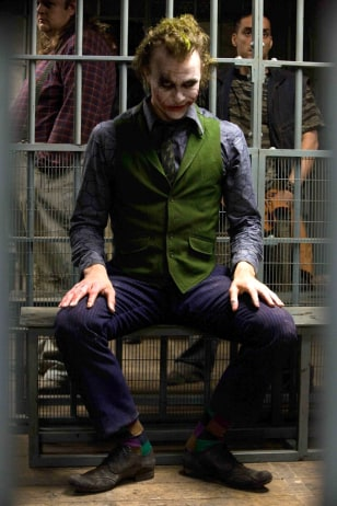Image: Heath Ledger as The Joker.