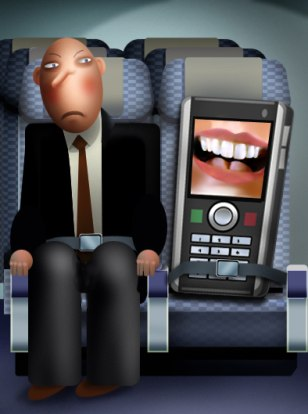 Image: In-flight electronic etiquette