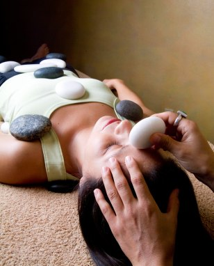 Image: Heated stone massage
