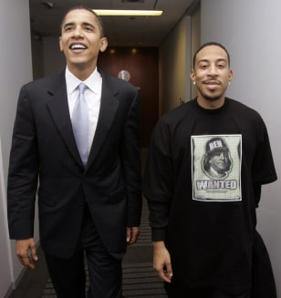 Image: Sen. Barack Obama and rapper Ludacris