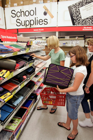 Image: Shopping for school supplies