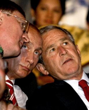 Image: George Bush, Vladimir Putin