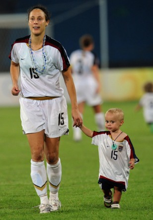 Kate Markgraf walks with her son Keegan