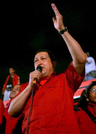 Image: Venezuelan President Hugo Chavez