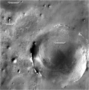 Image: Martian craters