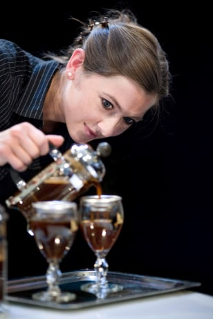Image: A Barista competes in Denmark