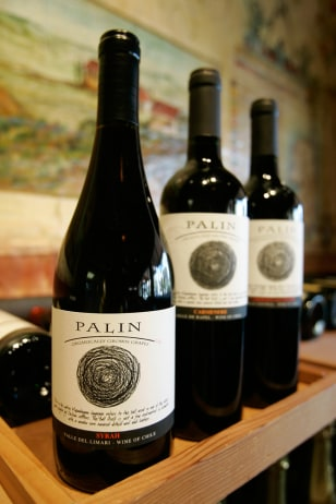 Image: Bottles of Palin wine