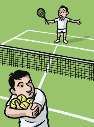 Illustration of tennis players.